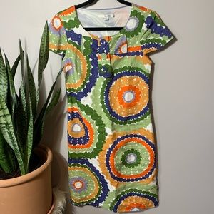 NWOT Boden Circle Design Scoopneck Dress 4L